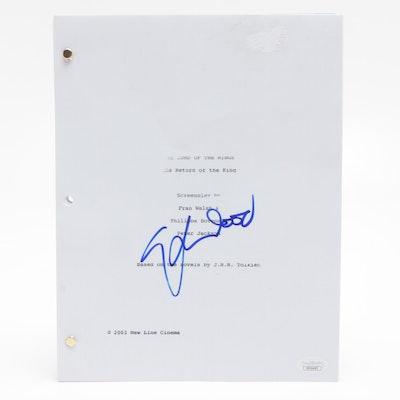 "2003 Elijah Wood Signed ""Lord of the Rings: Return of the King"" Script, JSA COA"