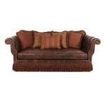 Robb & Stucky Interiors Leather and Fabric Upholstered Sofa