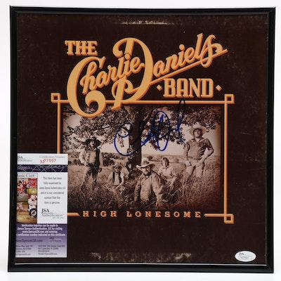 Charlie Daniels Signed Framed Album Cover, JSA COA
