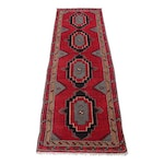 3'11 x 12'6 Hand-Knotted Turkish Caucasian Rug