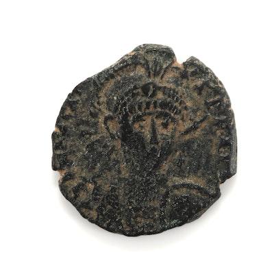 Ancient Rome Honorius AE3 Follis Coin, Circa 401-403