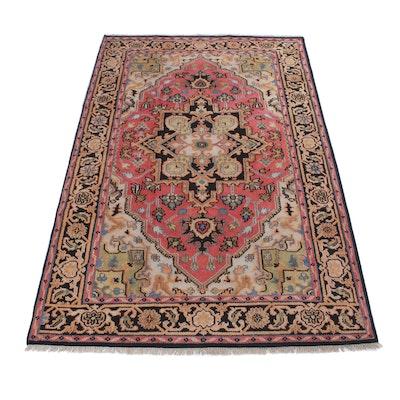 5'11 x 9'3 Hand-Knotted Indo-Persian Heriz Serapi Rug