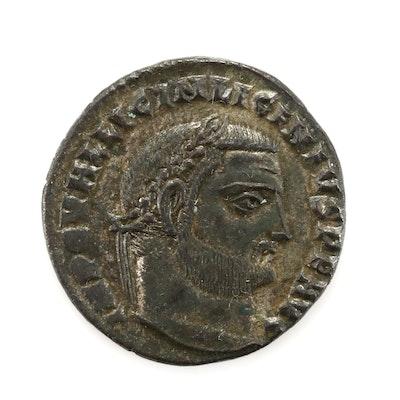 Ancient Rome Licinius I AE Follis Coin, Circa 308-324 AD