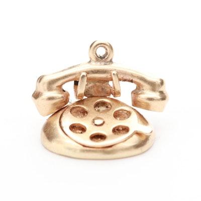 14K Yellow Gold Telephone Charm