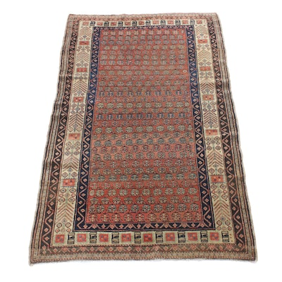 4'6 x 7'9 Hand-Knotted Northwest Persian Rug, Circa 1890s