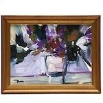 """Jose Trujillo Oil Painting """"Vase of Irises"""""""