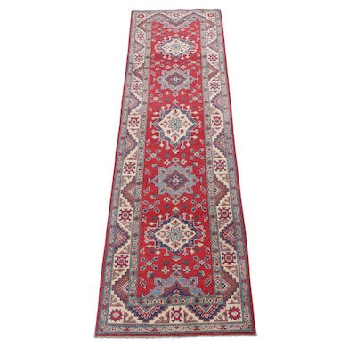 2'9 x 9'8 Hand-Knotted Afghani Caucasian Long Rug
