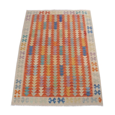 4'3 x 6'3 Handwoven Turkish Kilim Rug