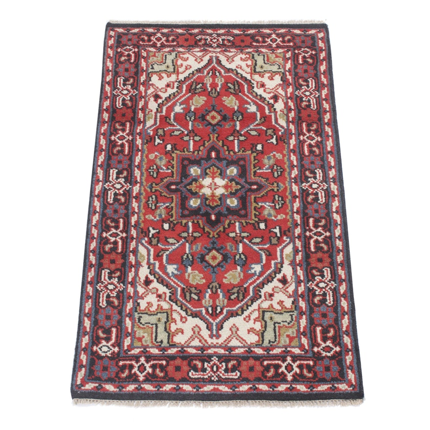 3' x 5'2 Hand-Knotted Indo-Persian Heriz Rug