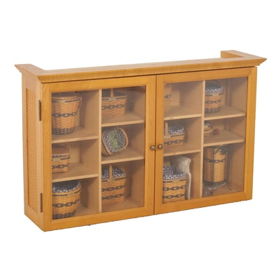 Longaberger Collectors Club Cabinet with J. W. Miniature Baskets