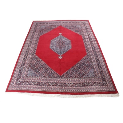 8'10 x 12'9 Hand-Knotted Indo-Persian Bijar Room Sized Rug