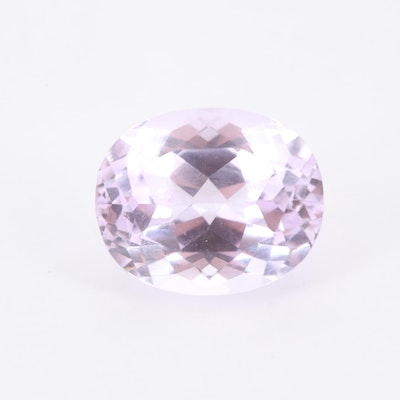 Loose 4.89 CT Oval Faceted Amethyst Gemstone