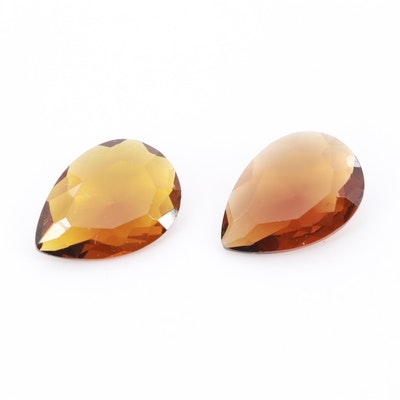 Loose Pear Shaped Glass Gemstones