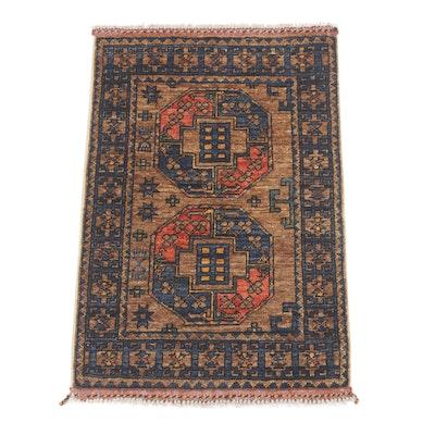 2'1 x 3'4 Hand-Knotted Afghani Turkoman Rug