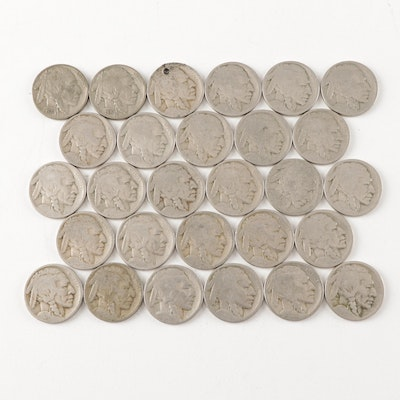 Buffalo Nickels Featuring 1935 and 1936