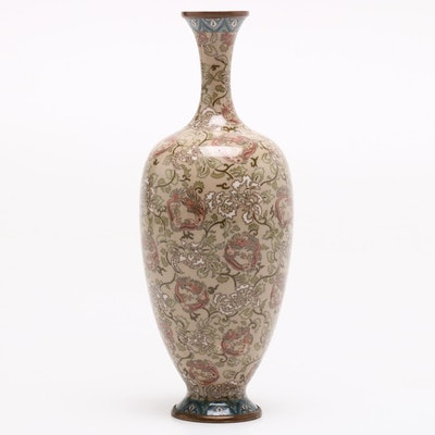 Japanese Cloisonné Vase, Early Meiji Period