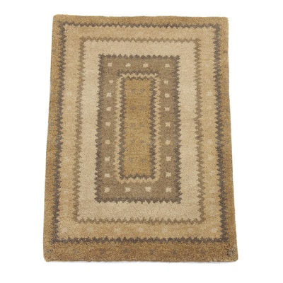 2' x 3' Hand-Knotted Indo-Persian Gabbeh Rug
