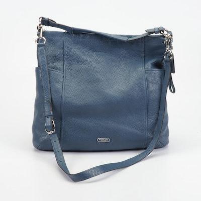 Coach Park Blue Pebbled Leather Hobo Shoulder Bag
