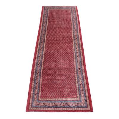 3'7 x 11'3 Hand-Knotted Persian Mir Sarouk Long Rug