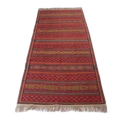 5'3 x 11'9 Handwoven Caucasian Soumak Rug, Circa 1950s