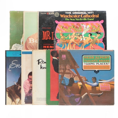 LP Records Featuring Herb Alpert and the Tijuana Brass and More, Mid-Century
