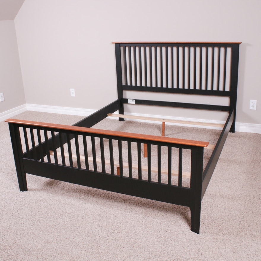 Arts and Crafts Style Queen Bed Frame