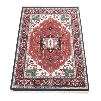 4' x 6'3 Hand-Knotted Indo-Persian Heriz Rug