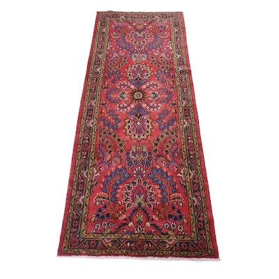 3'7 x 10'5 Hand-Knotted Persian Lilihan Long Rug, Circa 1970s