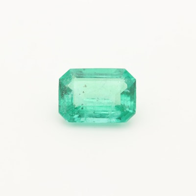 Loose 1.21 CT Emerald Gemstone