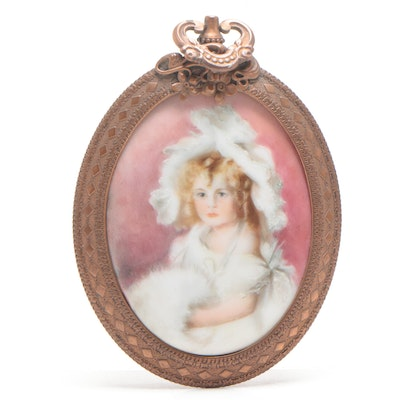 Portrait of Girl Ceramic Wall Hanging