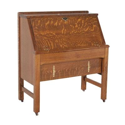 Tiger Oak Secretary Desk