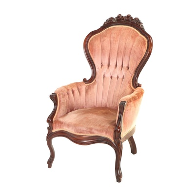 Pelham, Shell & Leckie Inc., Victorian Style Mahogany Gentleman's Armchair