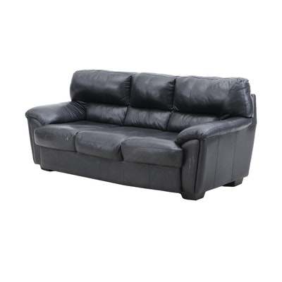 Ashley Black Leather Sofa