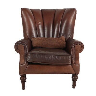 Bernhardt Leather Upholstered Armchair, 20th Century