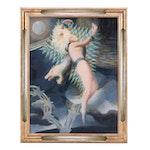 Jean Janin 1928 Surrealist Style Oil Painting