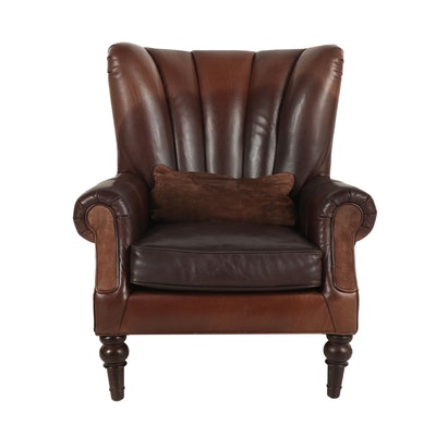 Contemporary Bernhardt Leather Upholstered Armchair