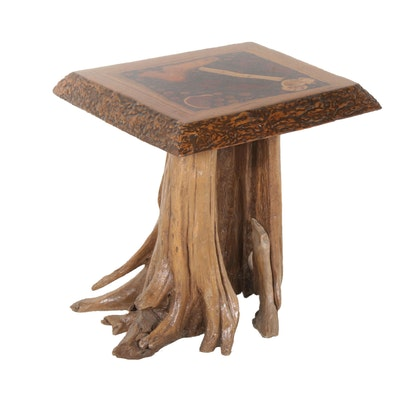 Rustic Wood Accent Table