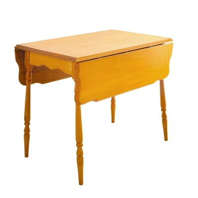 Primitive Drop-Leaf Breakfast Table, 20th Century