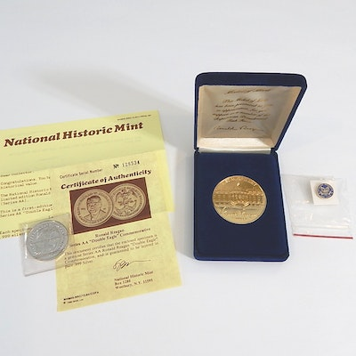 Series AA Double Eagle 1984 Ronald Reagan Medal and Task Force Medal of Merit
