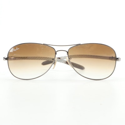 Ray-Ban 8301 Gradient Lens Pilot Sunglasses