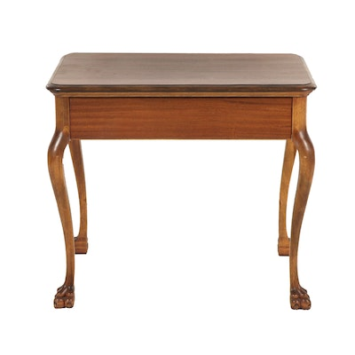 Queen Anne Style Side Table, Late 20th Century