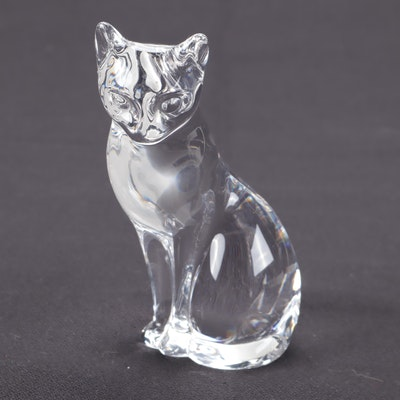 Lenox Crystal Cat Figurine