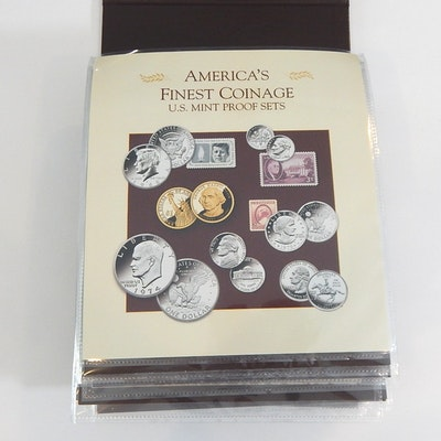 "PCS ""America's Finest Coinage"" Proof Set Album, 2007 to 2012"