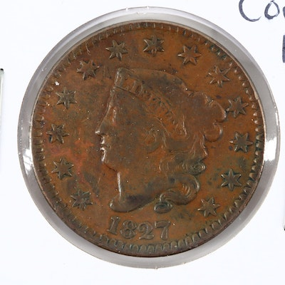 1827 Matron Head Large Cent