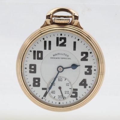 Hamilton Railway Special 10K Wadsworth Gold-Filled Case Pocket Watch