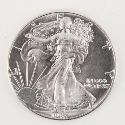 1987 American Silver Eagle $1 Coin