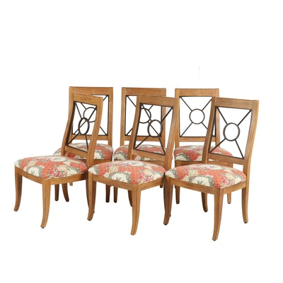 Drexel-Heritage Side Chairs with Upholstered Seats, Set of Six