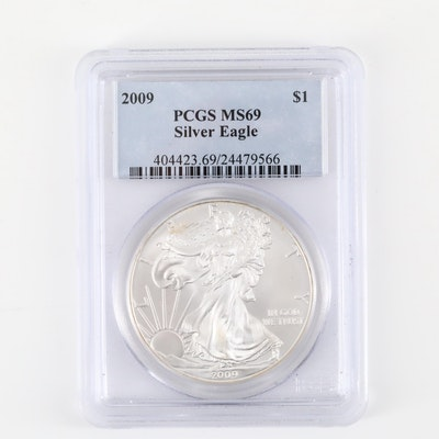 PCGS Graded MS69 2009 American Silver Eagle $1 Coin
