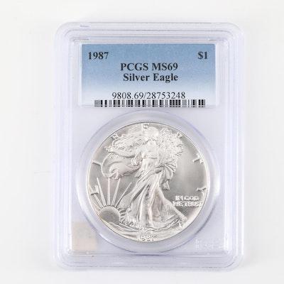 PCGS Graded MS69 1987 American Silver Eagle $1 Coin
