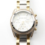 Michael Kors Stainless Steel and Gold Tone Wristwatch